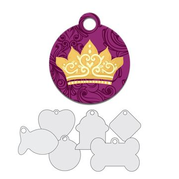 Picture of Gold Crown Pet Tag