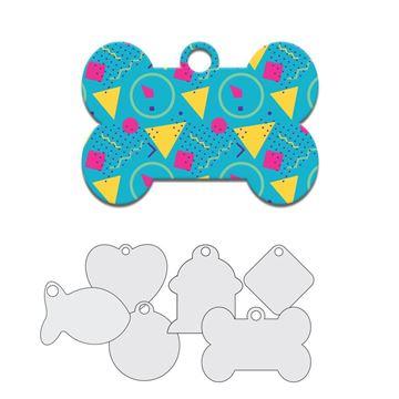 Picture of Blue Retro Design Pet Tag