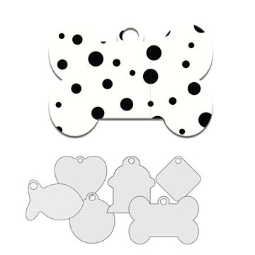 Picture of Black and White Spot Design Pet Tag