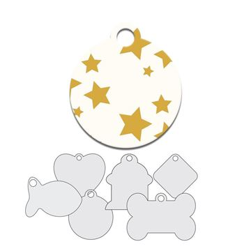 Picture of Gold Stars Design Pet Tag
