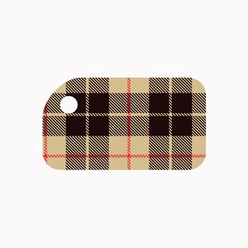 Picture of Beige Flannel KeyTag