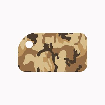 Picture of Brown Camo KeyTag