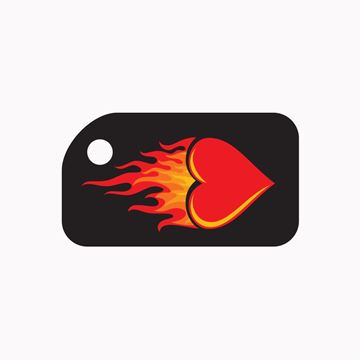 Picture of Flaming Heart KeyTag
