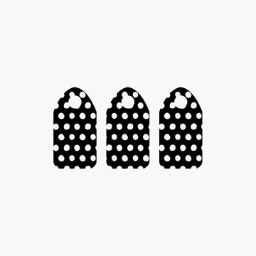 Picture of Black and White Dots Zipper Pull
