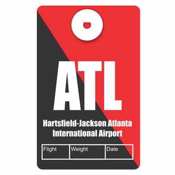 Picture of Atlanta Airport Code Luggage Tag