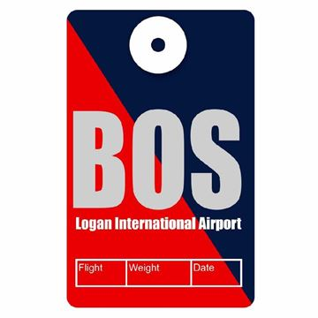 Picture of Boston Airport Code Luggage Tag