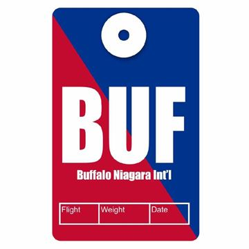 Picture of Buffalo Airport Code Luggage Tag