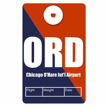 Picture of Chicago O'Hare Airport Code Luggage Tag
