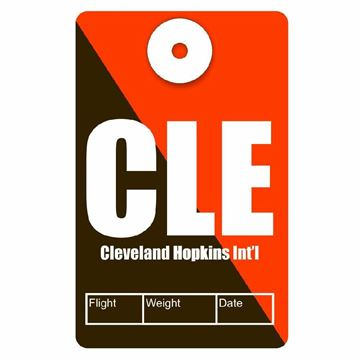 Picture of Cleveland Airport Code Luggage Tag