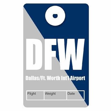 Picture of Dallas/Ft Worth Airport Code Luggage Tag