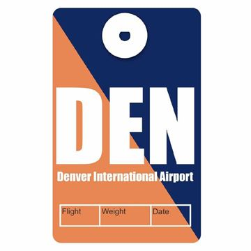 Picture of Denver Airport Code Luggage Tag
