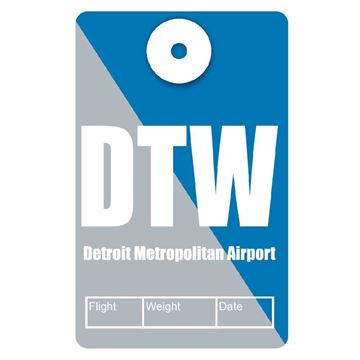 Picture of Detroit Airport Code Luggage Tag