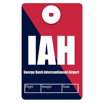 Picture of Houston Intercontinental Airport Code Luggage Tag