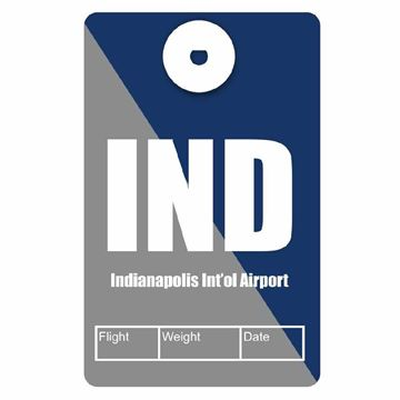 Picture of Indianapolis Airport Code Luggage Tag