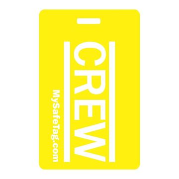 Picture of Yellow Crew Luggage Tag