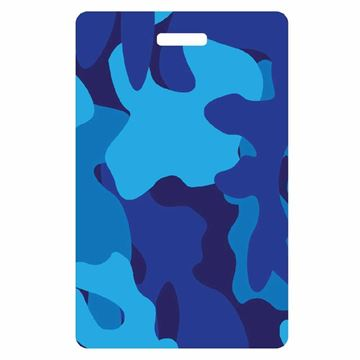 Picture of Blue Camo Luggage Tag
