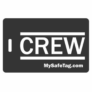 Picture of Black Crew Luggage Tag