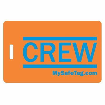 Picture of Orange and Blue Crew Luggage Tag