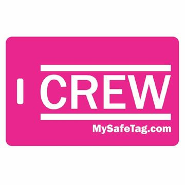Picture of Pink Crew Luggage Tag