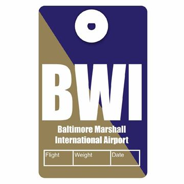 Picture of Baltimore Airport Code Luggage Tag
