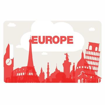 Picture of Europe Skyline Luggage Tag