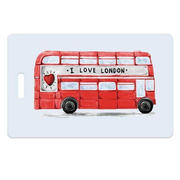 Picture of London Bus Luggage Tag