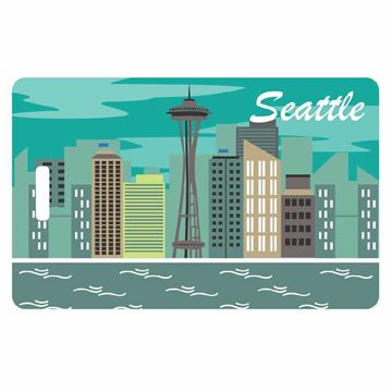 Picture of Seattle Skyline Identity Safe Luggage Tag