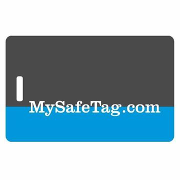 Picture of Black and Blue Luggage Tag