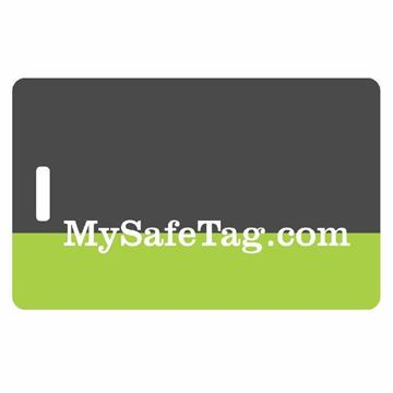 Picture of Black and Green Luggage Tag