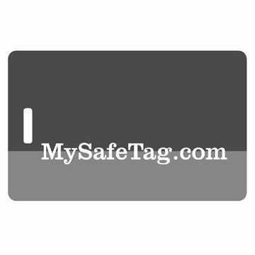 Picture of Black and Grey Luggage Tag