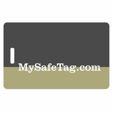 Picture of Black and Olive Luggage Tag