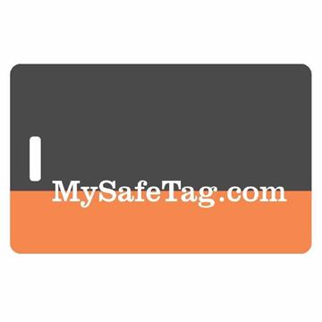 Picture of Black and Orange Luggage Tag