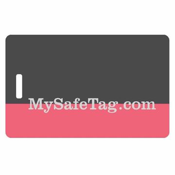 Picture of Black and Pink Luggage Tag