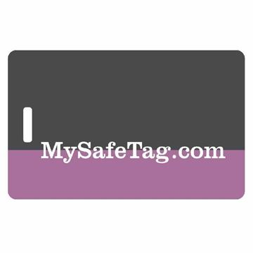 Picture of Black and Purple Luggage Tag