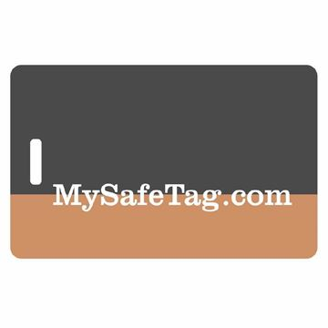 Picture of Black and Tan Luggage Tag
