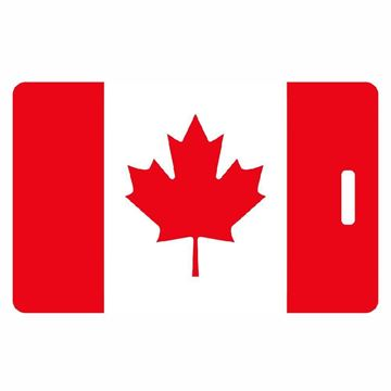 Picture of Canadian Flag Luggage Tag