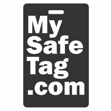 Picture of Black My Safe Luggage Tag