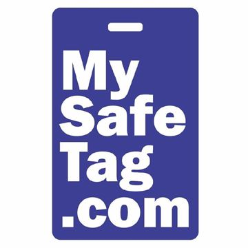 Picture of Blue My Safe Tag Luggage Tag