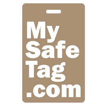 Picture of Brown My Safe Tag Luggage Tag