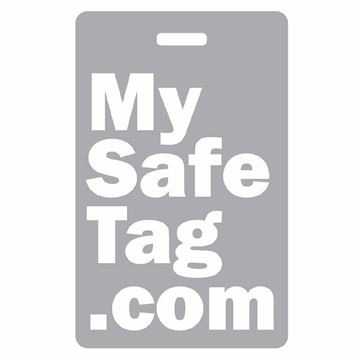 Picture of Grey My Safe Tag Luggage Tag