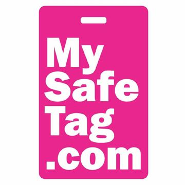 Picture of Pink My Safe Tag Luggage Tag