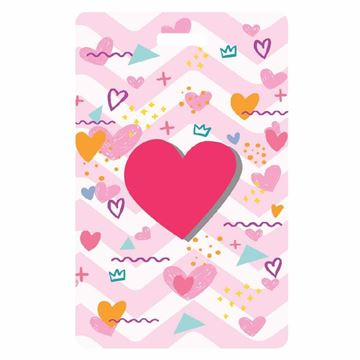 Picture of Hearts Luggage Tag