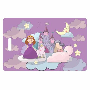 Picture of Purple Princess Child Luggage Tag