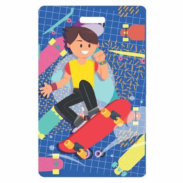 Picture of Skateboard Child Luggage Tag
