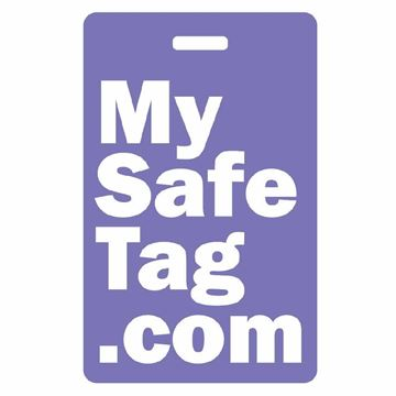 Picture of Purple My Safe Tag Luggage Tag
