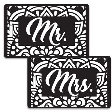 Picture of Mr & Mrs Black and White Couples Luggage Tag