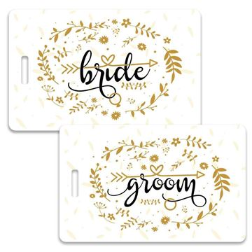 Picture of Bride and Groom Couples Luggage Tag