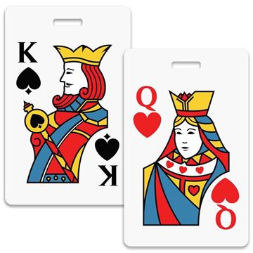 Picture of King and Queen Couples Luggage Tag