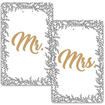 Picture of Mr & Mrs Elegant Couples Luggage Tag