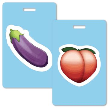 Picture of Emoji Couples Luggage Tag